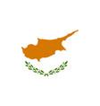 flag cyprus closeup vector image