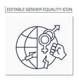 gender-based violence line icon