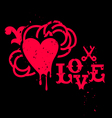 Grunge heart sign vector image vector image