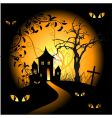halloween night background vector image vector image