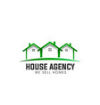 house real estate green logo vector image vector image