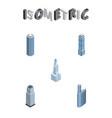 isometric skyscraper set of apartment skyscraper vector image vector image