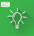 light bulb icon business concept hand drawn idea vector image