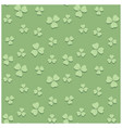 light green seamless pattern for saint patrick vector image