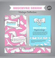 lingerie brochure underwear background vector image