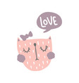 love cat vector image vector image