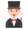 magician icon profession and job vector image vector image