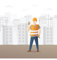 male construction worker vector image vector image