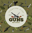 military gun seamless pattern automatic and hand vector image vector image