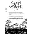 ocean underwater life background vector image