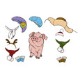 pig and her clothes vector image vector image