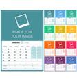 portuguese calendar 2018 vector image vector image