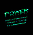 power font in sport style vector image