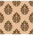 Retro dark beige or brown seamless pattern vector image vector image