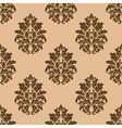 Retro dark beige or brown seamless pattern vector image