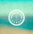 Retro summer background vector image