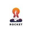rocket launch symbol logo design template vector image