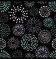 seamless pattern with different round ink vector image