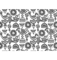 seamless pattern with hand drawn fancy birds vector image vector image