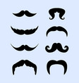 set mustache style collection movember vector image vector image
