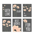 set of birthday cards vector image vector image