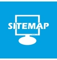 Sitemap white icon vector image vector image
