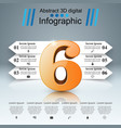 six business infographics origami style vector image
