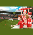 sports fans in a stadium vector image