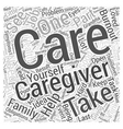 taking care yourself is part job word vector image vector image