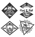 Vintage paintball emblems vector image vector image