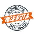 washington red round grunge vintage ribbon stamp vector image vector image