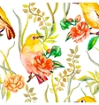 watercolor pattern tropical and flowers white vector image vector image
