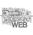web design schools text word cloud concept vector image vector image