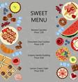 sweet restaurant menu template vector image