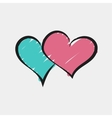 Valentines day love sketch background vector image