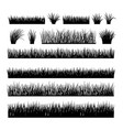 meadow silhouette set for horizontal banners vector image