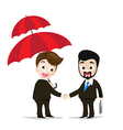 Business protection concept two of business man vector image