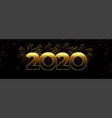 2020 happy new year firework banner design vector image vector image