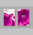 3d paper cut style posters vector image vector image