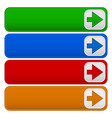 4 color banners buttons with arrows vector image vector image
