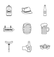 Alcoholic beverage icons set outline style vector image vector image