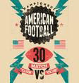 american football vintage grunge poster vector image vector image