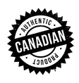 Authentic canadian product stamp vector image