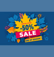 autumn sale end season advertising banner vector image