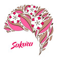 background with sakura or cherry blossom vector image vector image