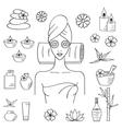 Beautiful woman spa vector image