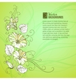 Bindweed on a green background vector image vector image