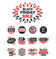 black friday banner icon vector image vector image