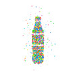 bottle abstract soda vector image