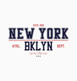 brooklyn new york slogan typography graphics for vector image vector image